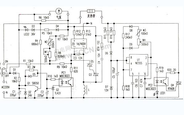 电热风枪电路原理图详细资料免费下载