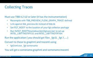 采用英特尔线程构建模块(英特尔® TBB)的流程图介绍