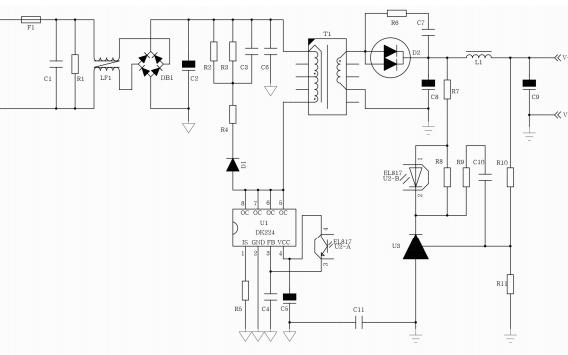DK224离线式开关电源控制芯片的中文数据手册免费下载