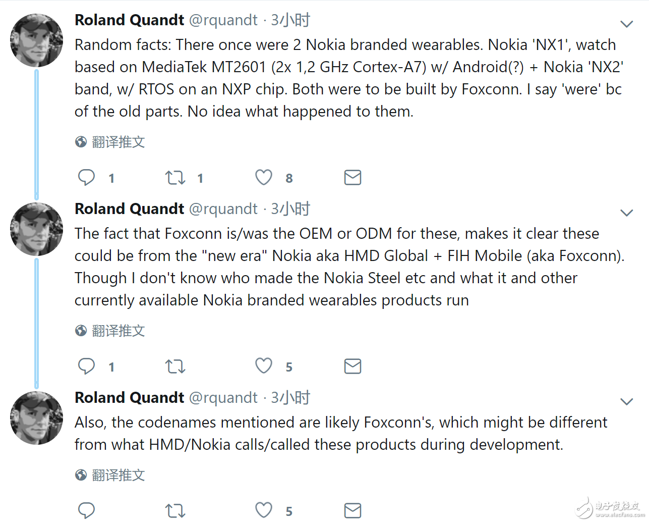 诺基亚将推两款可穿戴设备 一款手表一款手环