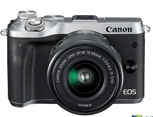 佳能EOS M6相机,拥有约2420万有效像素,...