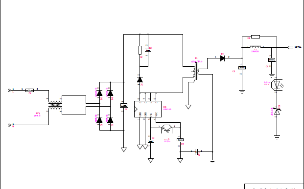 12V1A电源适配器的电路原理图资料免费下载