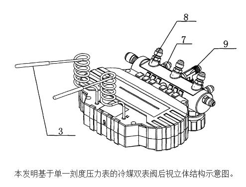 基于单一刻度压力表的冷媒双表阀的原理及设计