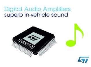 ST为扩大其领先优势 推出新一代车用数字音频功率放大器芯片
