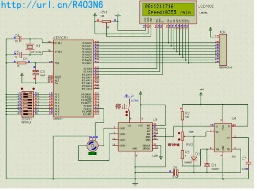 C51单片机在电机转速测量仿真系统中的龙8国际娱乐网站