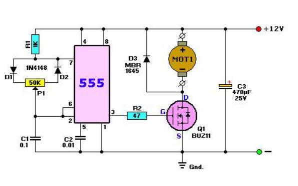 使用51单片机实现PWM直流电机调速的程序和注释详细资料免费下载