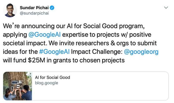 谷歌建了一个2500万美金的计划基金 计划利用A...
