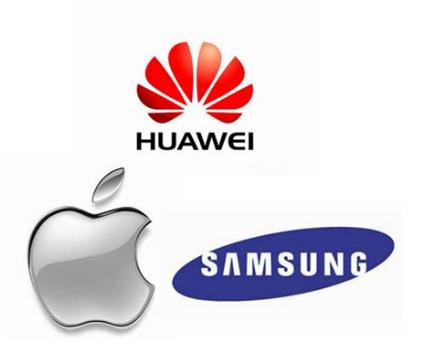 华为进一步巩固了全球手机老二的位置 形成了紧追三...