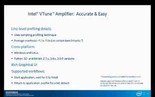 使用英特尔VTune放大器对Python应用程序...