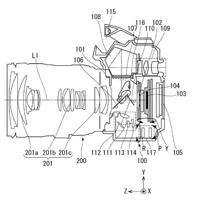 佳能在日本申请了一项全新的机身防抖专利