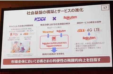 KDDI与乐天合作日本第四大移动运营商将提前诞生