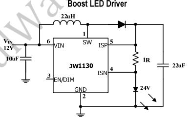 JW1130单片LED驱动器的数据手册免费下载