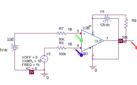 单(双)限比较器和迟滞比较器的电路以及仿真结果资料概述