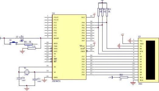 基于C51单片机对液晶显示的实验设计