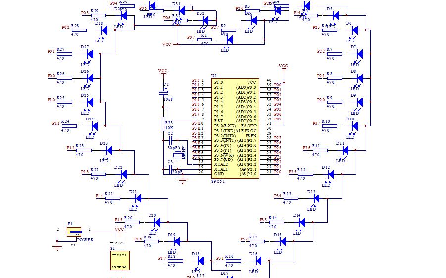 LED心形流水灯电路原理图资料免费下载