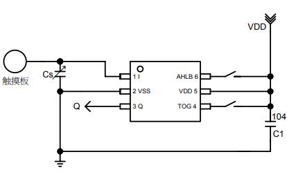 TTP233D-RB6单按键触摸检测芯片的数据手册免费下载