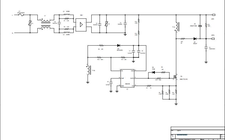 高PF 30W电源电路原理图资料免费下载