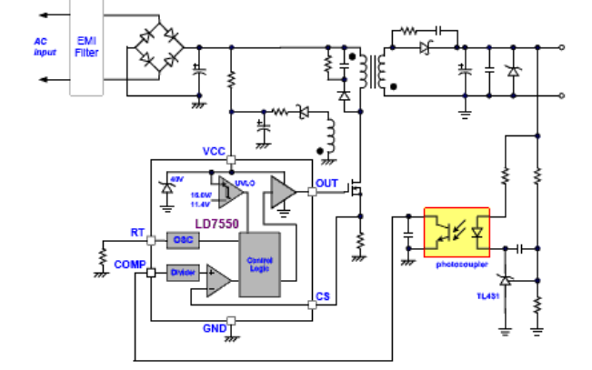 LD7550 AC/DC电源变换PWM控制器的数据手册免费下载