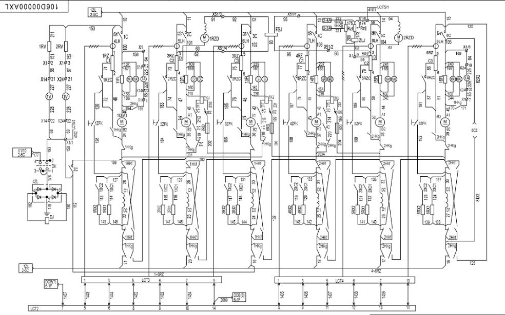 东风4B型机车详细电路原理图资料免费下载