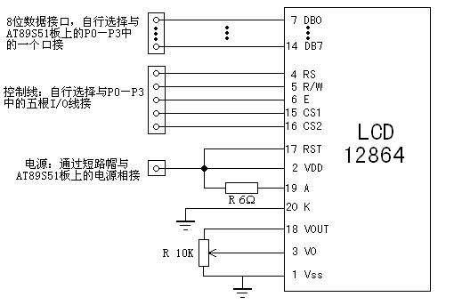 单片机采用串行方式对LCD12864的驱动