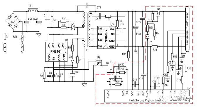 基于PN8161+PN8307H的18W PD快充电源应用方案