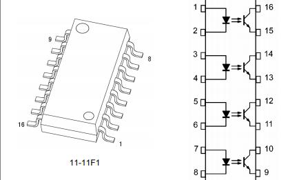 TLP291-4光电耦合器的数据手册免费下载
