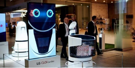 LG推出针对商店的新机器人助手 将机器人购物车带...