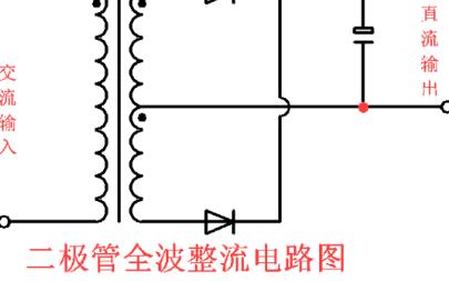 2个二极管全波整流电路图分享