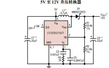 LT1372和LT1377单片高频开关稳压器的数据手册免费下载