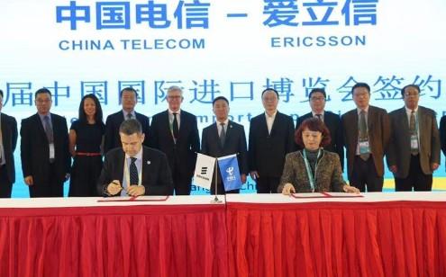 中国电信和爱立信签署了采购意向书正式成立了战略合...