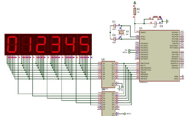 使用AVR编写的多位数码管代码和电路原理图资料免费下载