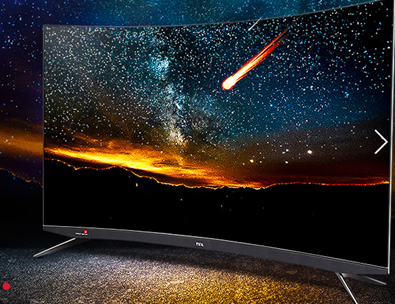 TCL原色量子点曲面电视亮相 AI智能为生活提供...