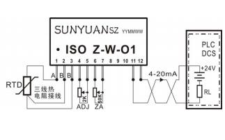 ISO Z-W-O1系列温度信号回路馈电隔离变送器芯片的数据手册免费下载