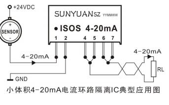 ISOS 4-20mA系列两线制模拟信号隔离器芯片数据手册免费下载