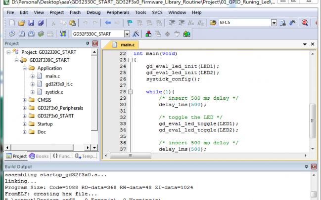 GD32330C-START开发板试用体验:GD32F330开发环境构建