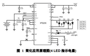 IP5209具有多功能电源管理SOC移动电源的电源解决方案