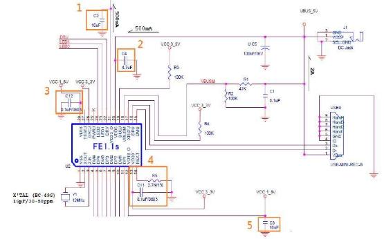 FE2.1 USB 2.0高速七端口集线器控制器的详细资料和数据手册免费下载
