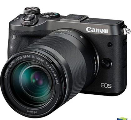 佳能EOS M6微单相机搭载18-150mm镜头的套机拥有2420万像素