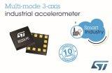 ST推出超低功耗变模MEMS工业级加速度计