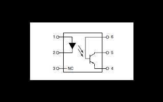 4N37系列通用六针光电晶体管光耦合器