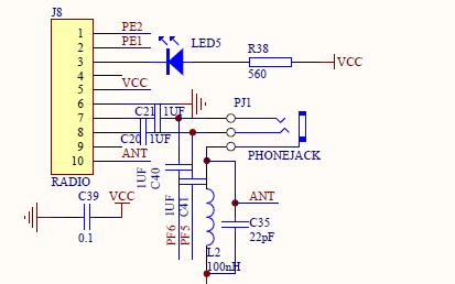 STM8单片机电路原理图免费下载