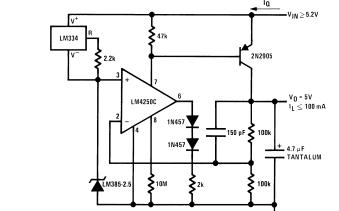 LM185-2.5和LM255-2.5及LM385-2.5电压调节二极管的数据手册免费下载