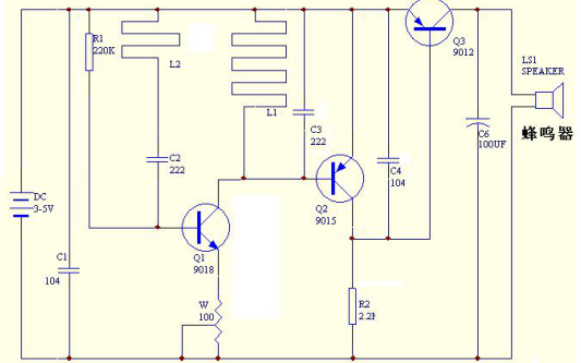 金属检测模块电路图介绍和调试说明