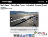 国外采用柔性砷化镓薄膜电池设计出太阳能无人机 实现人类历史上第一次永续飞行