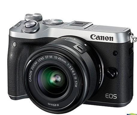佳能M6微单相机拥有2400万像素并具备9张/秒...