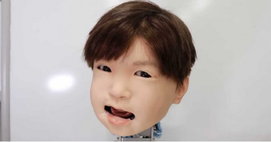 日本研发出儿童款的机器人面部表情 以便更好地与孩...