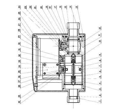 涡旋电子式水表及热能表计算装置及方法