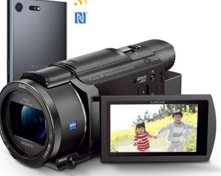 索尼AX60摄像机搭载20倍光学变焦蔡司镜头可完美的完成Vlog画面拍摄