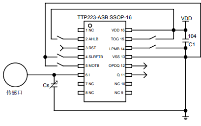 TTP223触摸键检测芯片的中文资料免费下载
