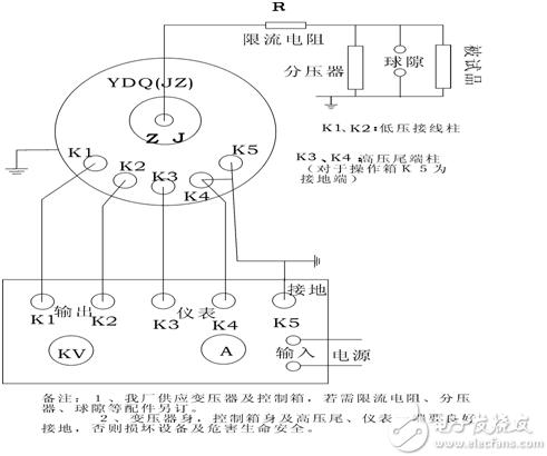充气式试验变压器接线图使用方法